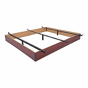 "72"" x 72"" x 10"" California King Bed Base with 1000 lb. Weight Capacity, Cherry Woodgrain"