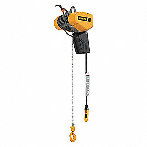 H4 Electric Chain Hoist, 2000 lb. Load Capacity, 115V, 10 ft. Hoist Lift, 17/3.9 fpm