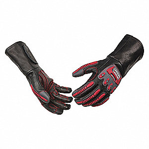 "Welding Gloves,Leather Palm,16"" L,XL Sz"