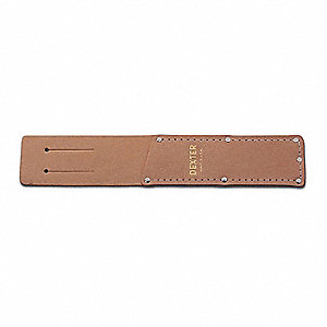 "10-11/16"" x 2"" x 10-1/2"" Knife Case Holds 1 pc., Natural Leather"