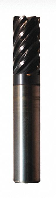 Square End Mill,  1/2 in Milling Dia.,  Carbide,  nACRo