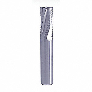 "Square End Mill, 0.6250"" Milling Diameter, Number of Flutes: 4, 1.250"" Length of Cut"