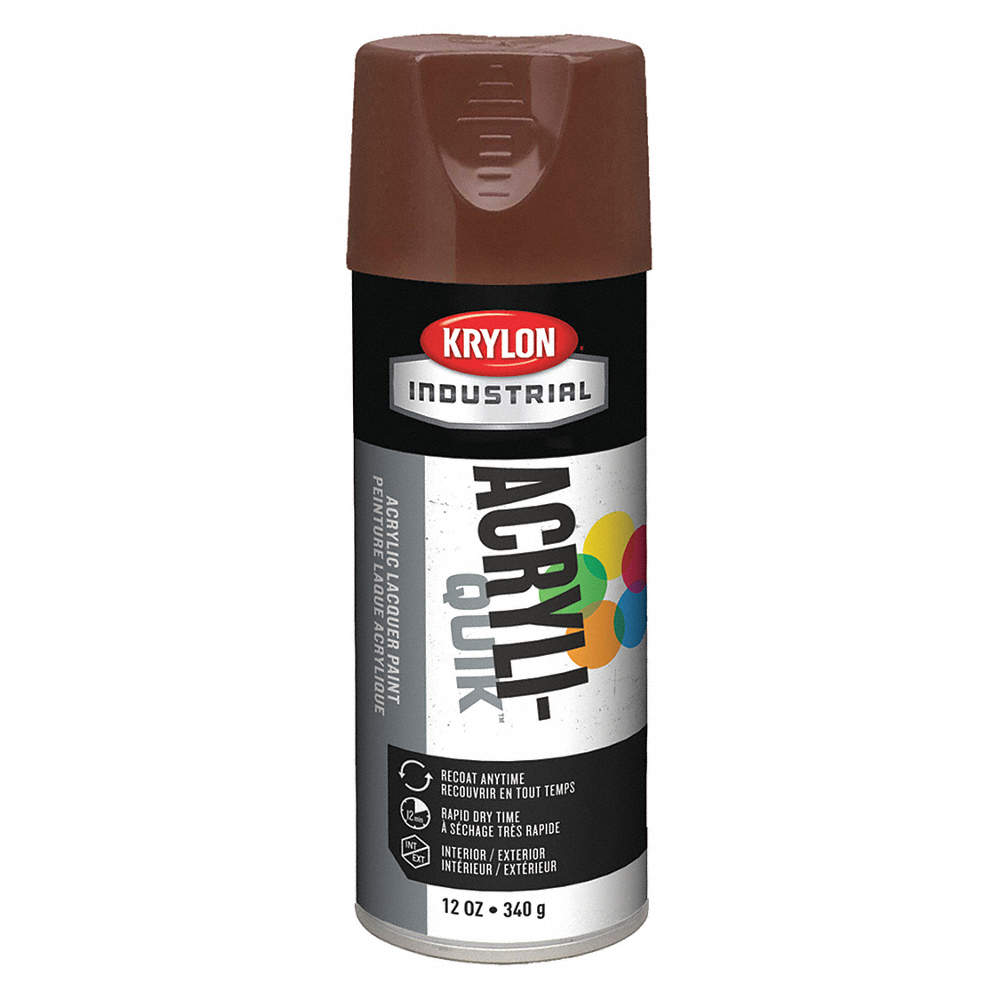 Acryli Quik Spray Paint In Gloss Leather Brown For Metal Steel Wood 12 Oz