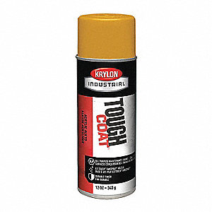 Tough Coat Rust Preventative Spray Paint in Gloss New Caterpillar Yellow for Metal, Steel, 12 oz.