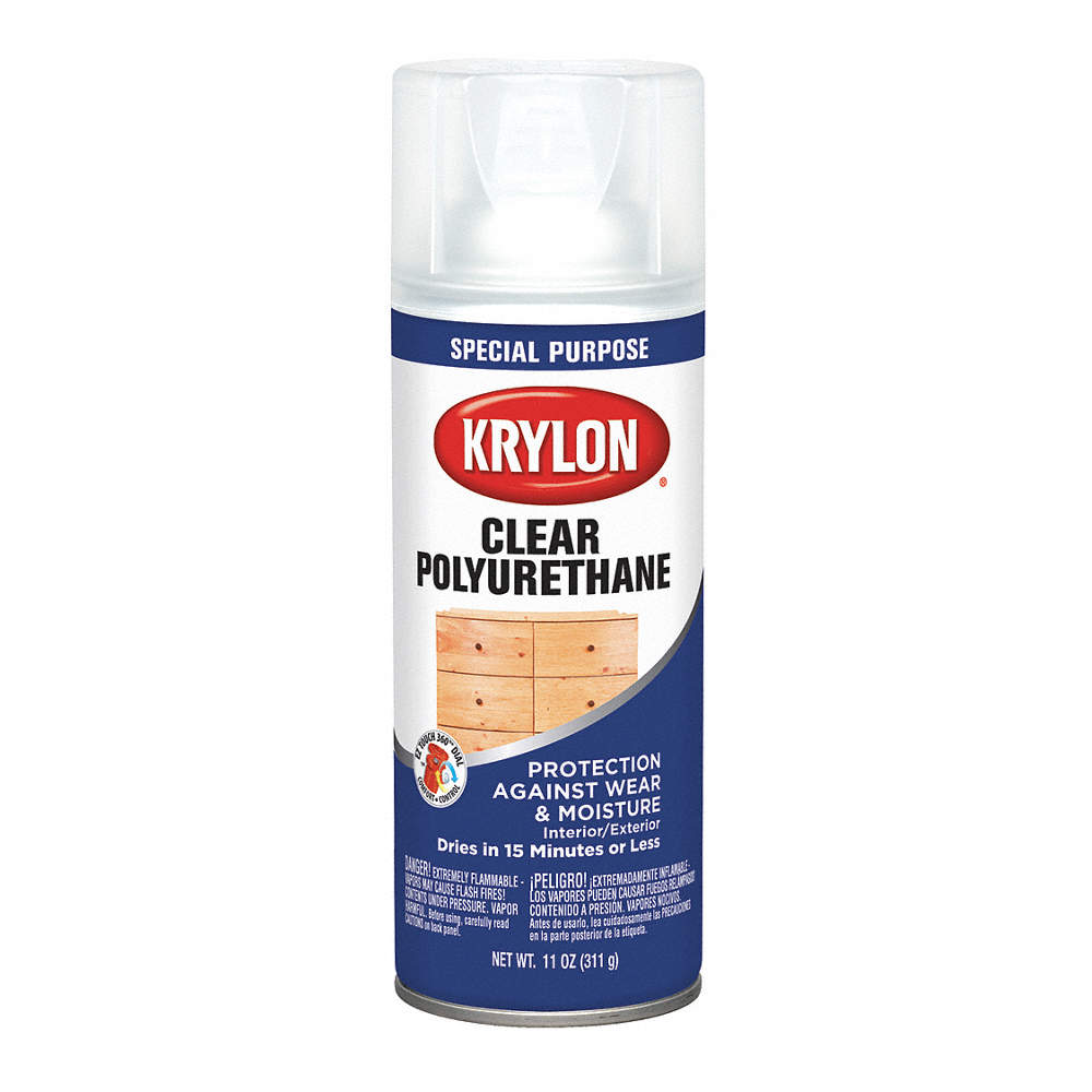 Krylon Industrial Polyurethane Polyurethane Spray In Gloss Clear For Ceramic Glass Metal Plaster Plastic Wood 11 54tj65 K07005777 Grainger