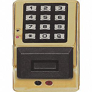 Trilogy Access Control Keypad Polished Brass Zinc Alloy