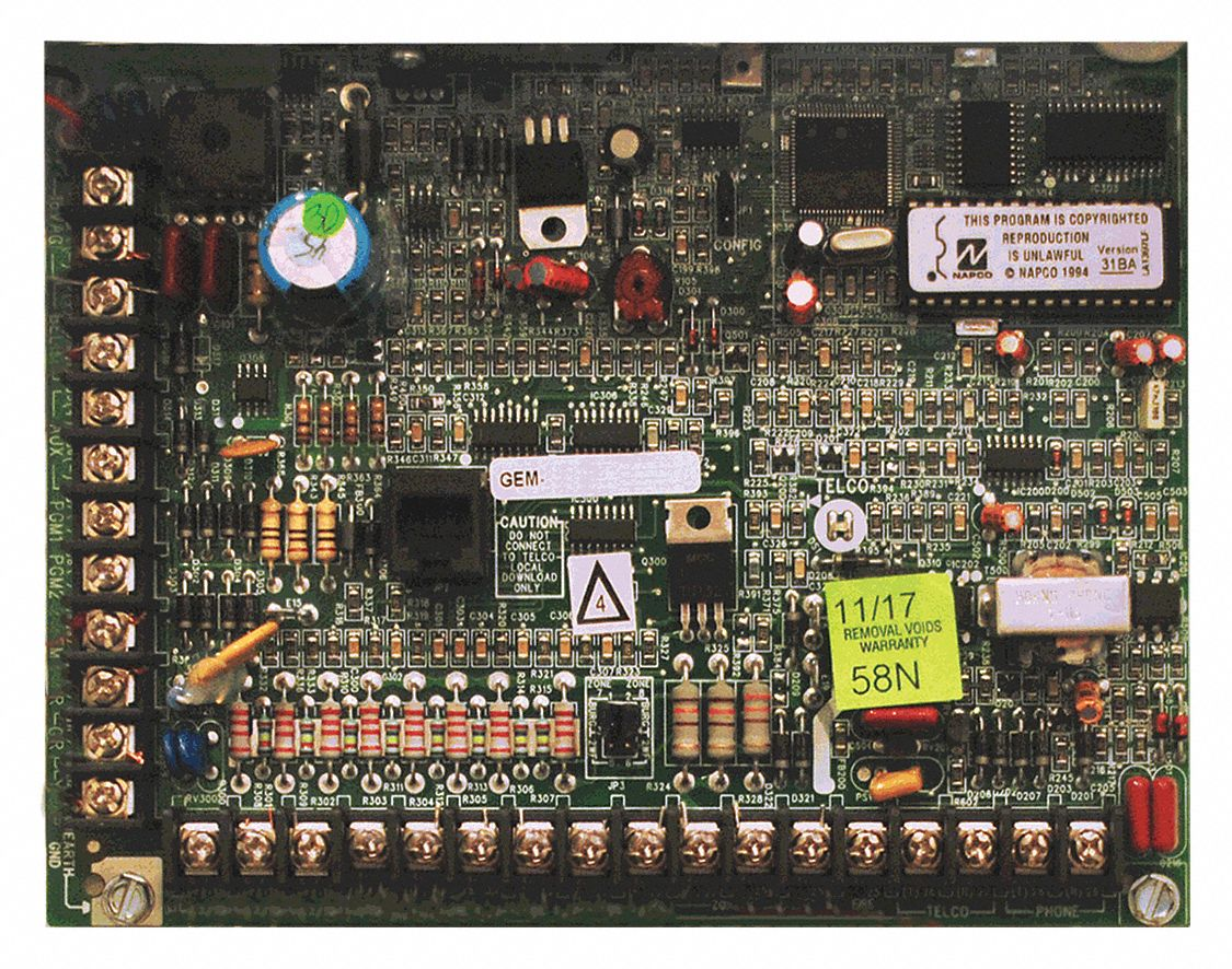 Control Panel Board, Max. Number Zones 32