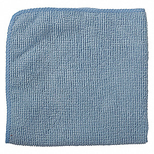 "Microfiber Cloth,12"" x 12"",Blue,PK24"