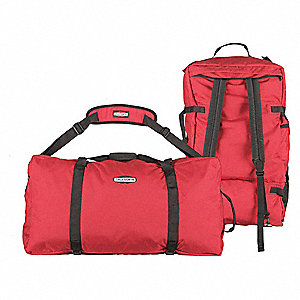 Red Gear Bag,  1000D Cordura(R),  Includes Removable Toiletry Bag, Removable Dry Bag