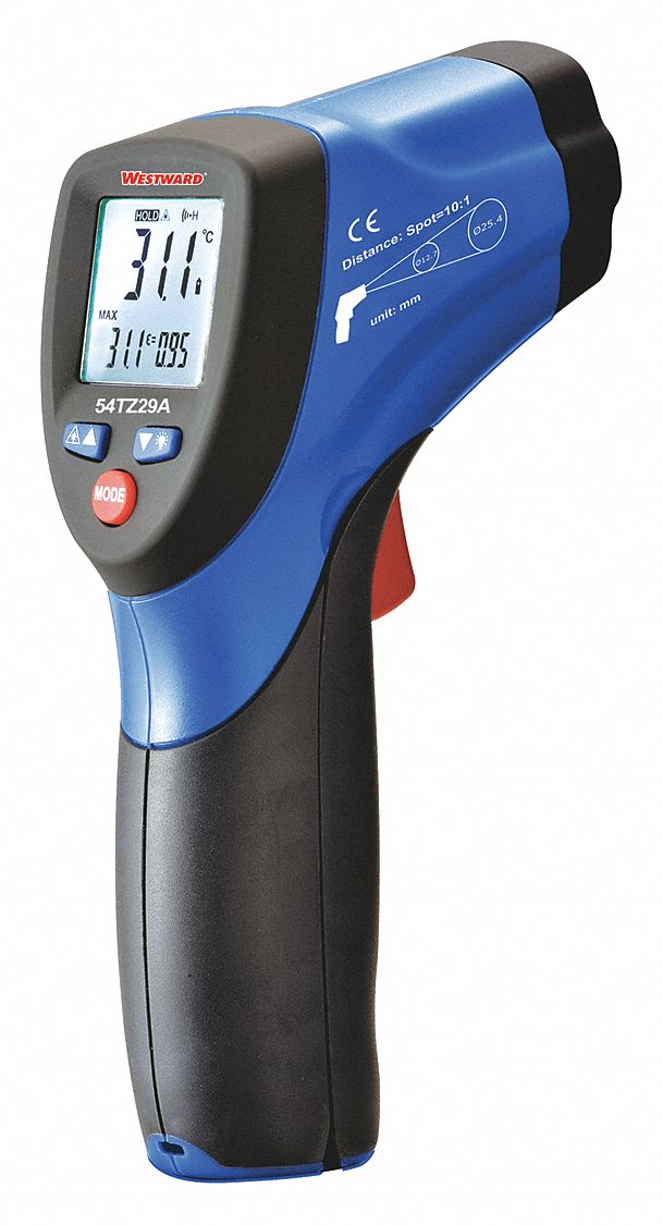 LCD,  Infrared Thermometer,  Single Dot Laser Sighting - Infrared