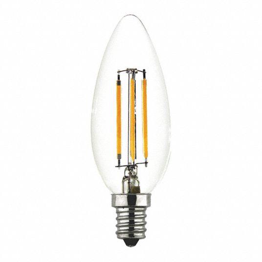Maxlite Led Bulb B10 Candelabra, Incandescent Luminaire Chandelier Bulb