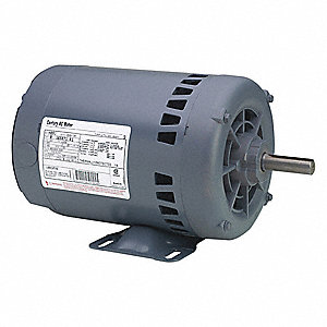 3/4 HP Belt Drive Motor, 3-Phase, 1725 Nameplate RPM, 208-230/460 Voltage, Frame 56H
