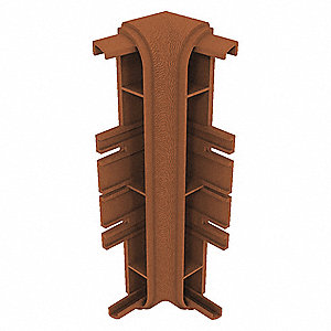 "Wall Protection Guard, Honey Nut, Plastic, 2"" Length, 7-3/4"" Height, 1"" Thickness"