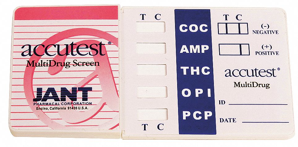 Urine Drug Test Kit, Detects AMP, COC, OPI 2000, PCP, THC; PK1