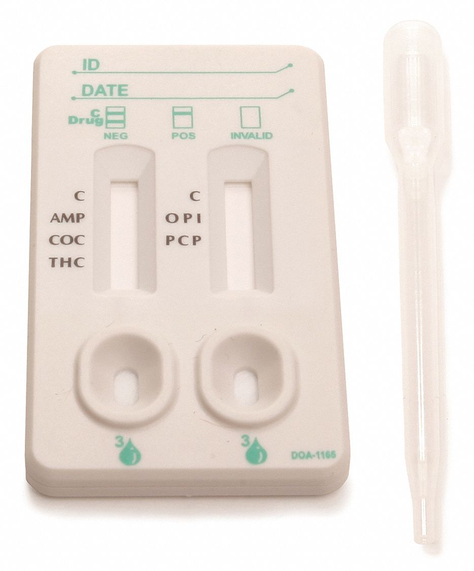 Urine Drug Test Kit, Detects AMP, COC, MET, OPI, THC; PK1