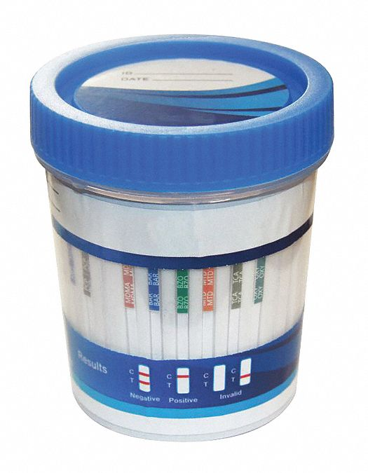 Urine Drug Test Kit, Detects AMP, BAR, BZO, COC, MAMP, MDMA, MTD, OPI, PCP, THC Plus Adulteration, P
