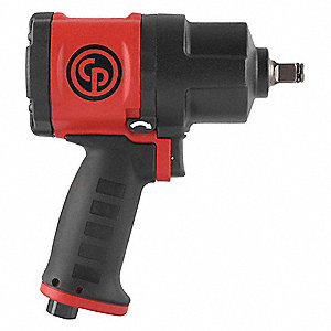 Air Powered,  Impact Wrench,  90 psi,  555 ft.-lb. Fastening Torque