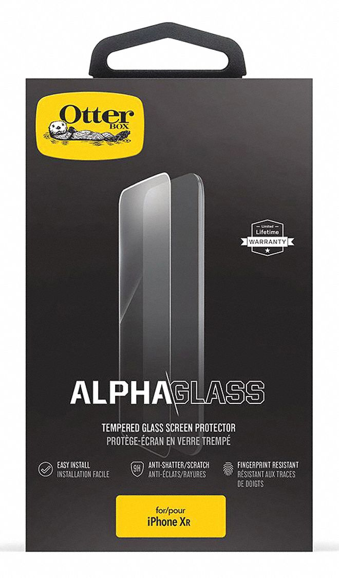 Screen Protector,  Fits Brand Apple,  Clear,  Glass, Polyester