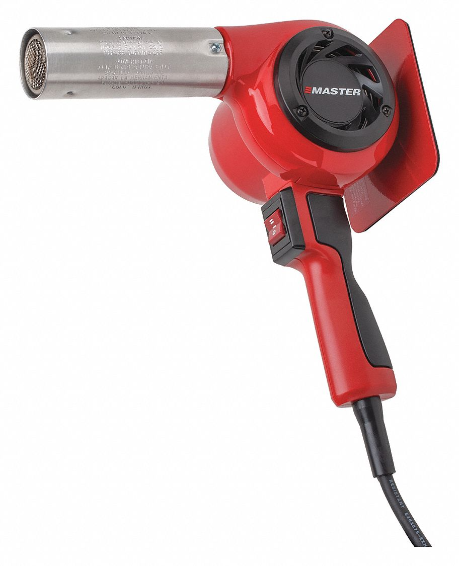 600W 400/° F Master Appliance HG-201D Industrial Heat Gun 120V 5 Amps Quick Change Plug-In Heating Element Assembled In USA