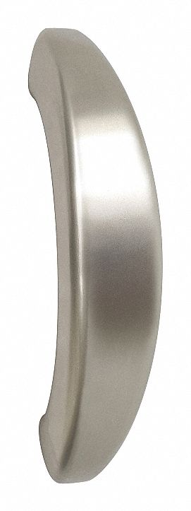 Aluminum Pull Handle with Polished Finish, Silver; Hardware Machine Screws