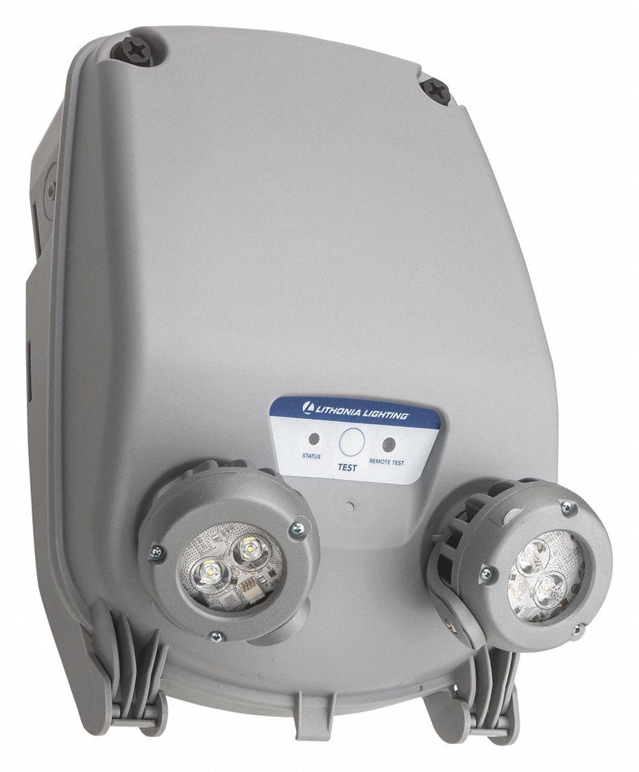 Lithonia Lighting 120 347v Led Emergency Light 6 6 Ww Gray Plastic Lithium Iron Phosphate Battery Chemistry 54zu72 Indl Sp640l Uvolt Ltp Eho Sdrt Grainger
