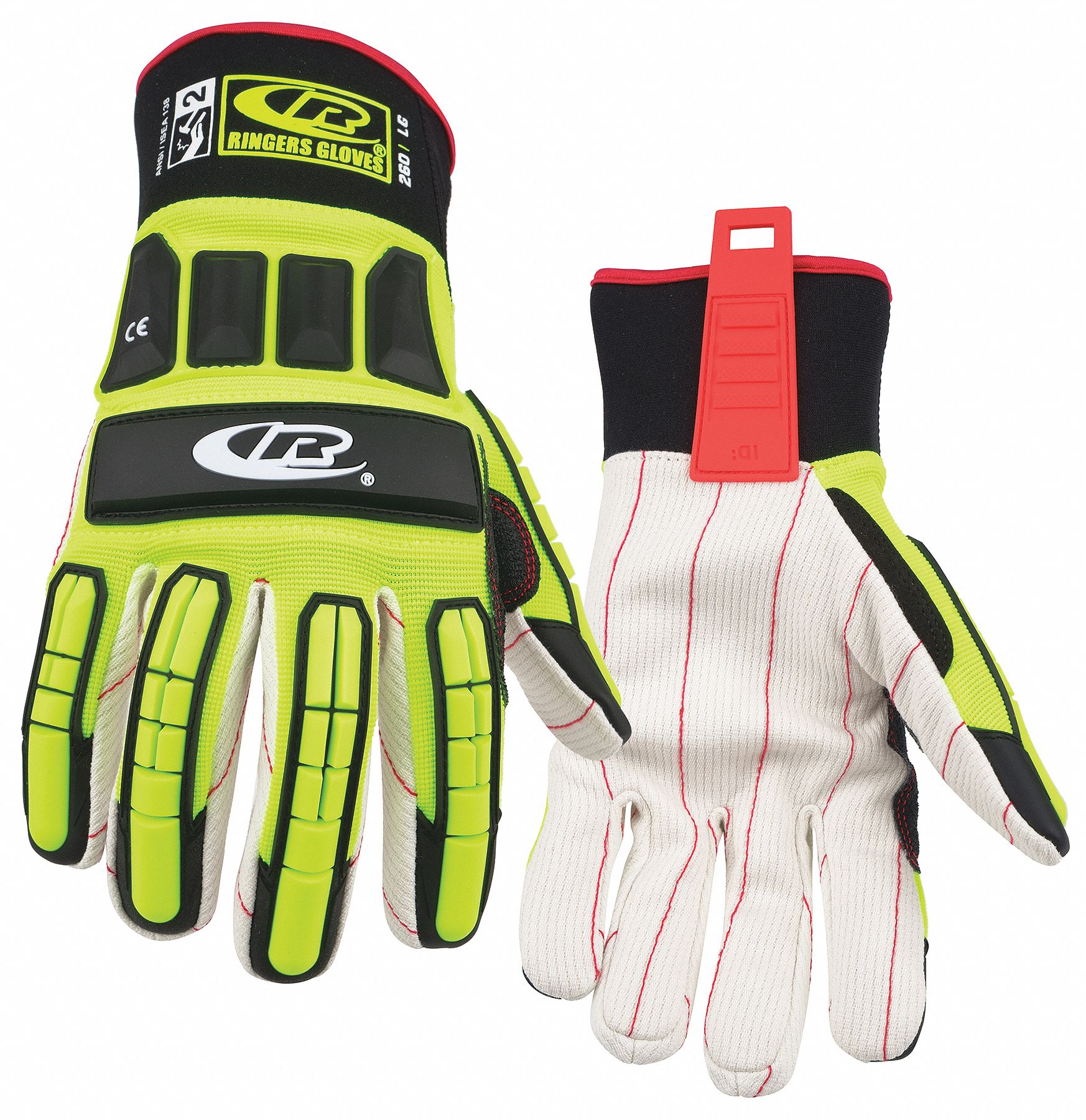 Mechanics Gloves,  L,  Riggers,  1 PR