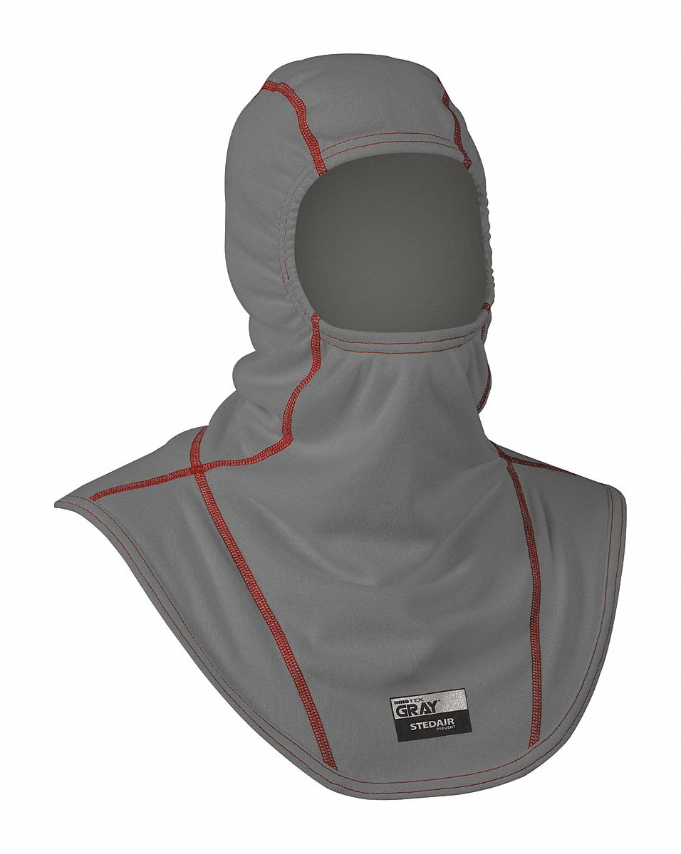 Universal,  Fire Hood,  Nomex(R)/Lenzing FR(R),  21 in Length,  Gray/Red