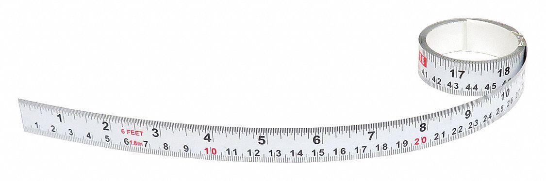 Adhesive Backed Tape Measure,SAE//Metric 50014