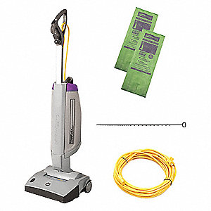 Cordless Upright Vacuum,  14 in Cleaning Path Width,  68 cfm,  13.9 lb Weight