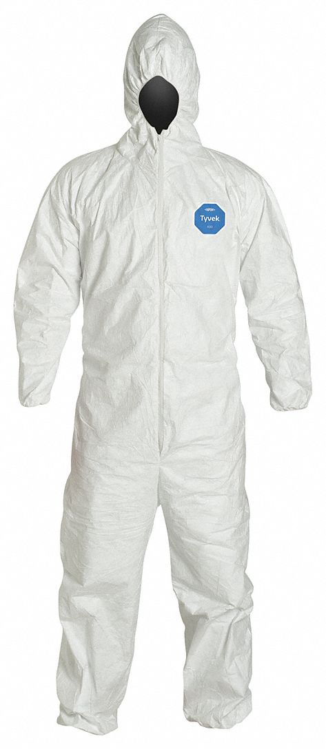 Hooded Disposable Coveralls,  Hooded,  Size XL,  PK 25