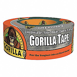 "Utility Cloth Tape, 2"" X 12 yd., 16.75 mil Thick, Gray Cloth, 1 EA"