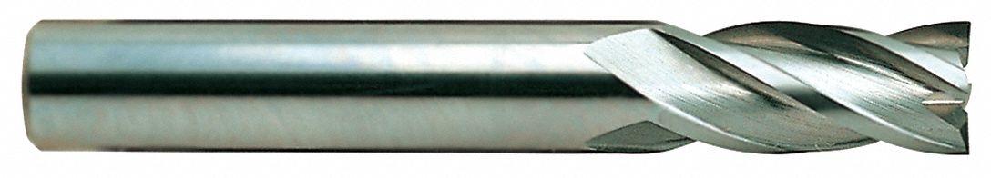 4 Length 3//4 Regular Length 4 Flute YG-1 07598-030R Carbide Corner Radius End Mill Uncoated Finish