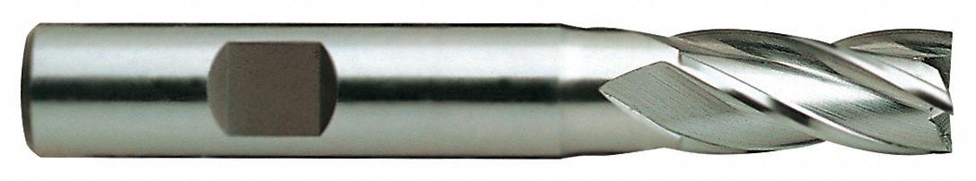 4 Flute 3-1//4 Length 1//2 Center Cutting YG-1 07071HN HSS End Mill TiN Finish Regular Length