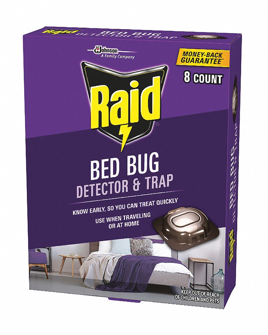 Bed Bug Trap,  Trap,  8 count,  Indoor Only,  DEET-Free DEET Concentration