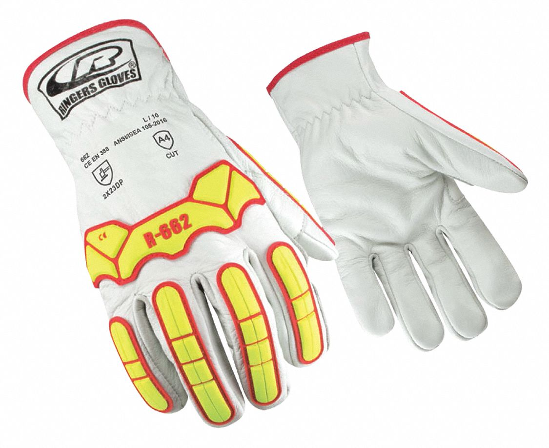 Mechanics Gloves,  L,  1 PR