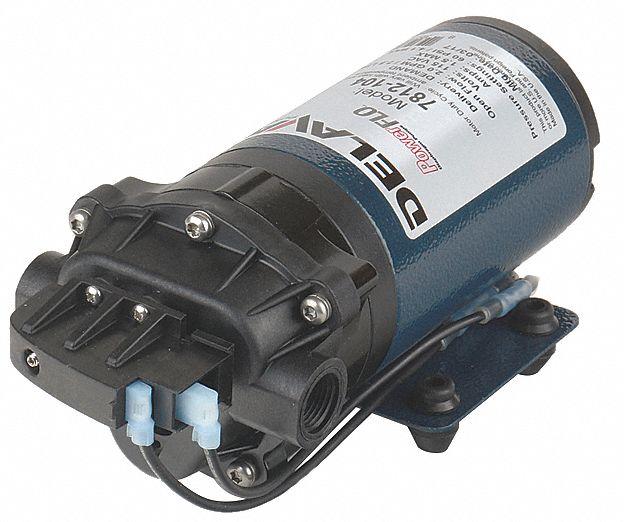 "Delavan Power Flo Diaphragm Pump 7822fs-201-SBIP 2.2GPM 12VDC /""NEW/"""