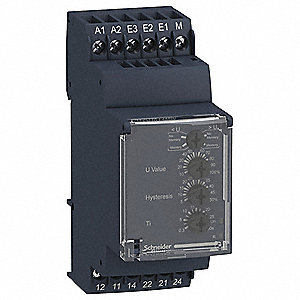 Voltage Sensing Relay, 24 to 240VAC/DC, 5A @ 24/240V, 6 Pins, Mounting: DIN Rail