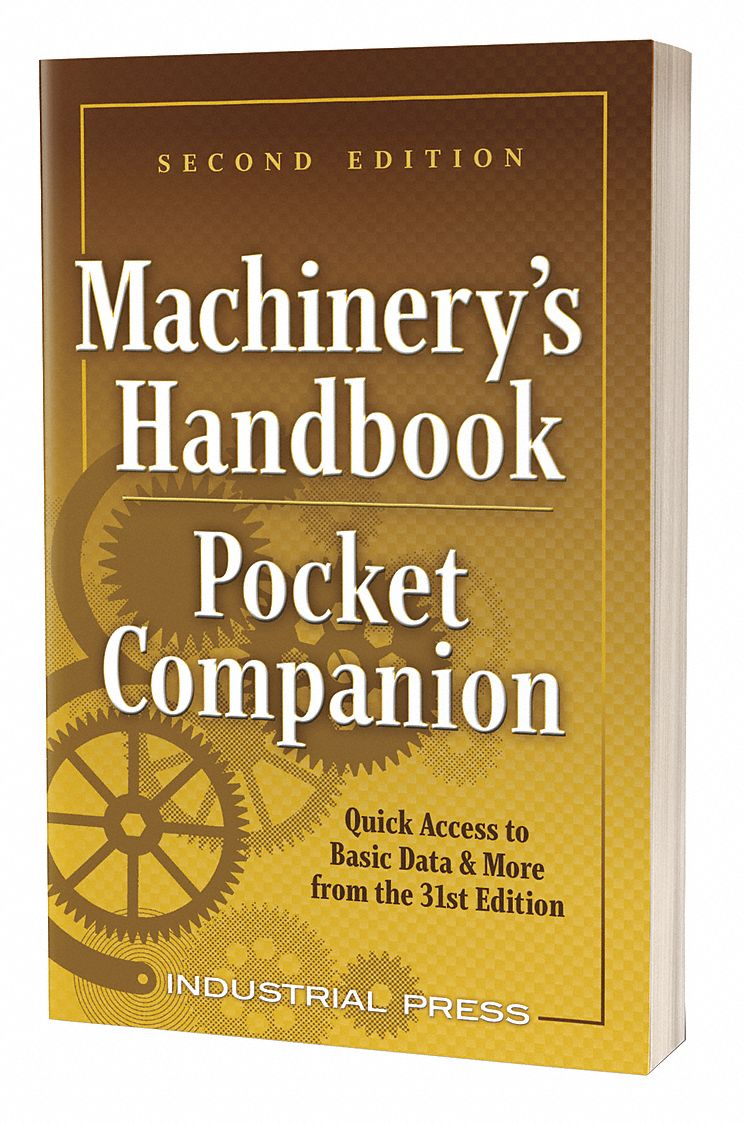 Reference Book,  Machining,  Pocket Companion,  2nd. Book Edition,  Bound, Soft Cover