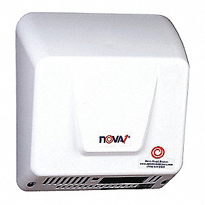 Cast Aluminum, Integral Nozzle Automatic Hand Dryer, 100 to 240 Voltage