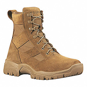 Athletic High Boots, Toe Type: Plain, Coyote, Size: 10-1/2