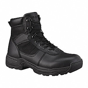 Athletic High Boots, Toe Type: Plain, Black, Size: 8