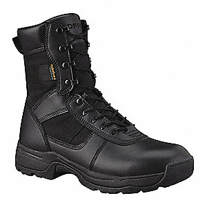 Athletic High Boots, Toe Type: Plain, Black, Size: 10