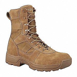 Athletic High Boots, Toe Type: Plain, Coyote, Size: 5-1/2
