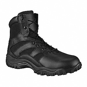 Athletic High Boots, Toe Type: Plain, Black, Size: 5