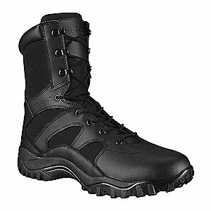 Athletic High Boots, Toe Type: Plain, Black, Size: 15