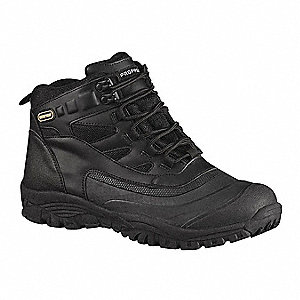 Athletic High Boots, Toe Type: Plain, Black, Size: 6