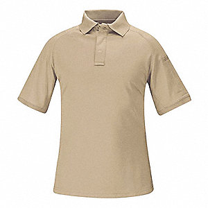Tactical Polo, L, Silver Tan