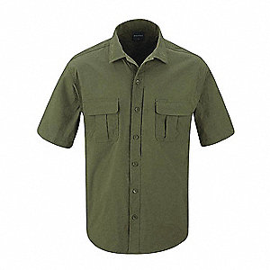 Short Sleeve Shirt, 3XL, Olive