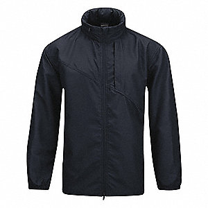 "Packable Unlined Wind Jacket, XL Fits Chest Size 46"" to 48"", LAPD Navy Color"