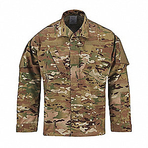 "ACU Coat, M Fits Chest Size 37"" to 41"", Multicam Color"